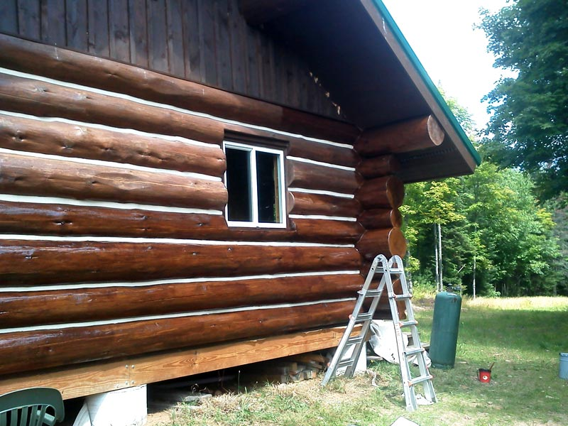 Construction contractors in medford wi wisconsin for Log cabin restoration