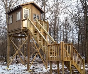 brown-deer-hunting-blind-with-staircase-entry